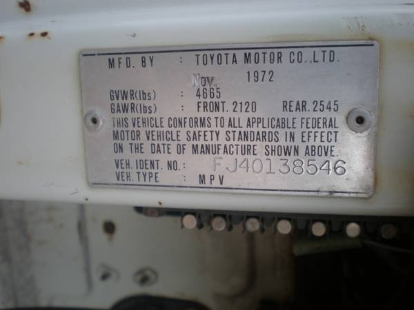 Model year vs Production Date For fJ40's | Page 3 | IH8MUD Forum