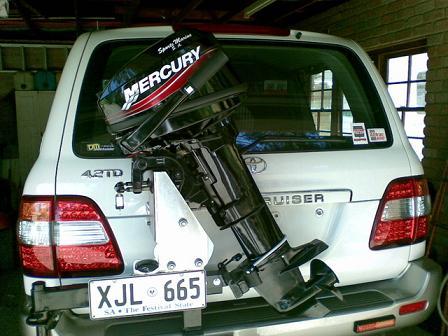 Outboard Motor Bracket On Spare Wheel Carrier Ih8mud Forum