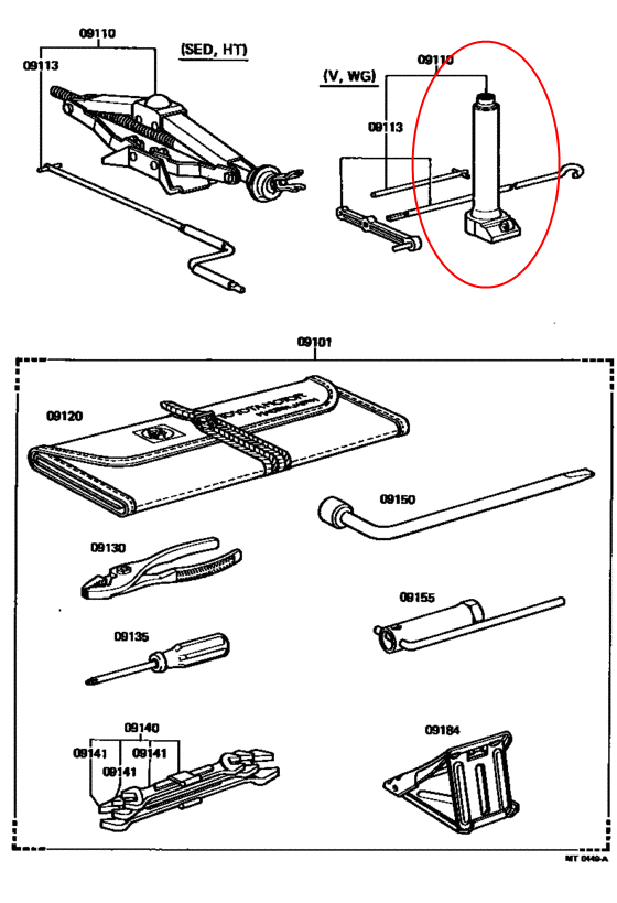 toyota land cruiser jack reference  1958
