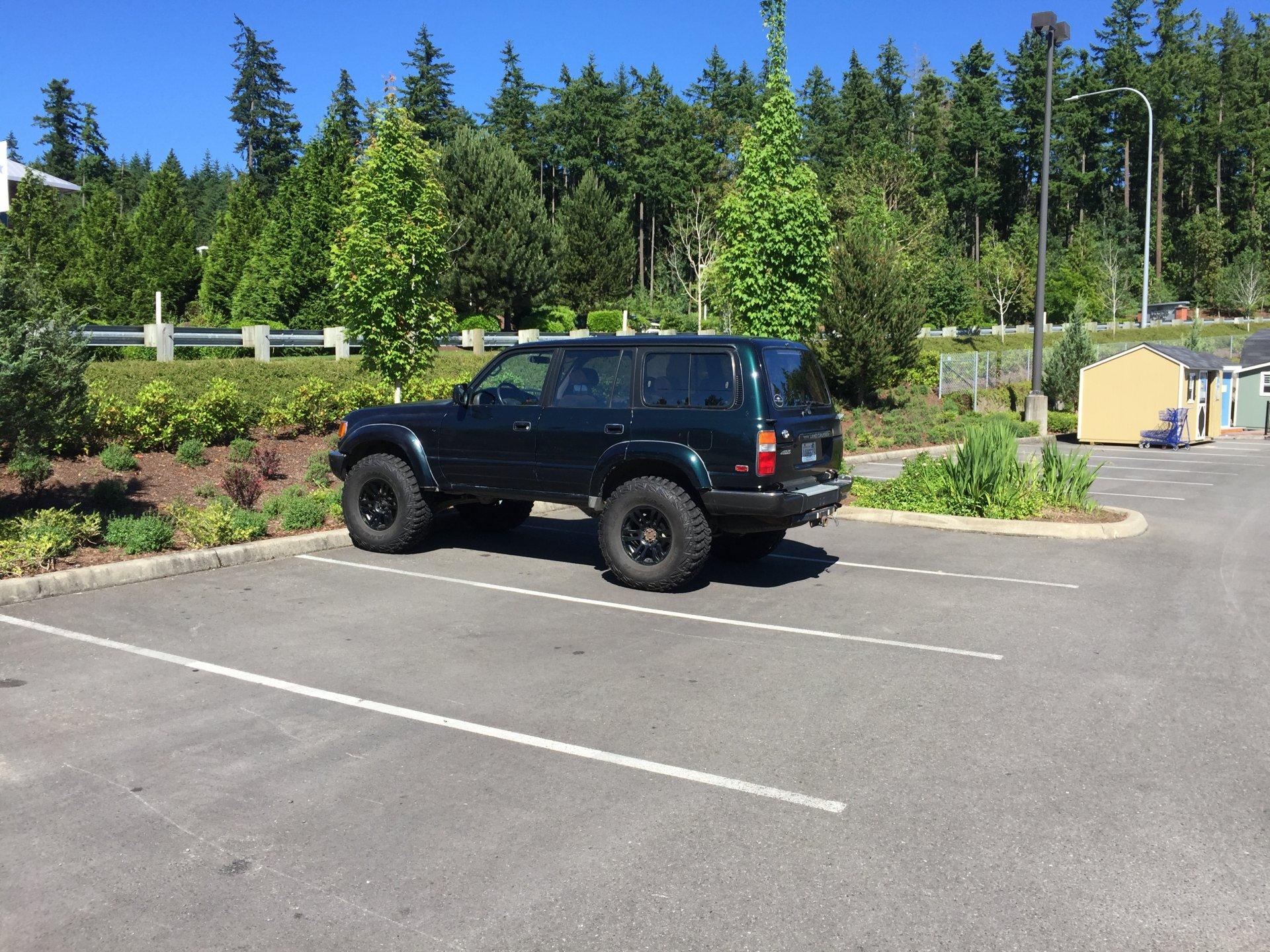 """craigslist 93 locked FZJ80 37"""" Tires Slee 4"""" Seattle area"""