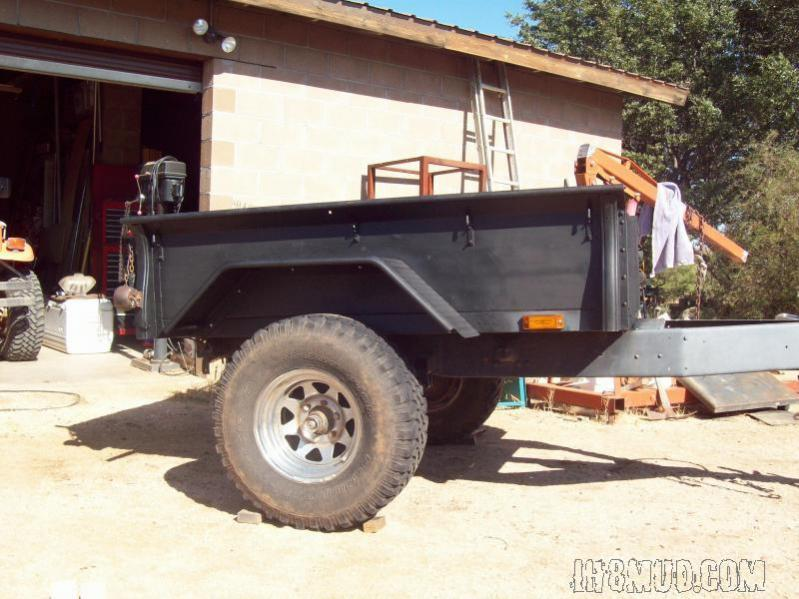 Trailers made with a pickup bed... Too heavy? | IH8MUD Forum