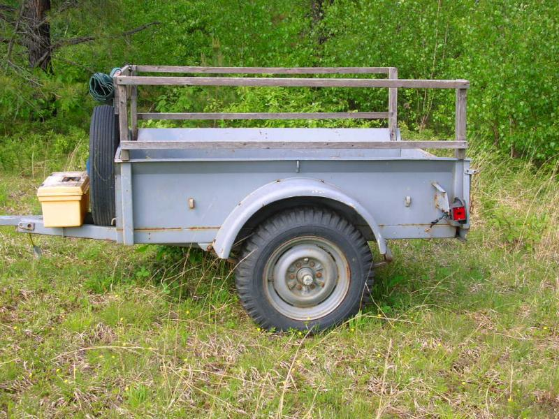 Old jeep trailer for sale #4