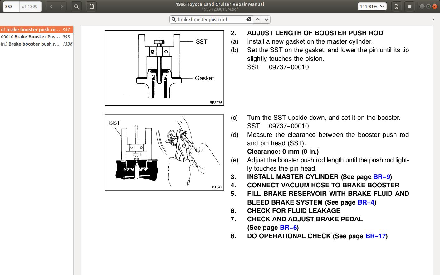 1996 80 series FSM brake rod adjust.png