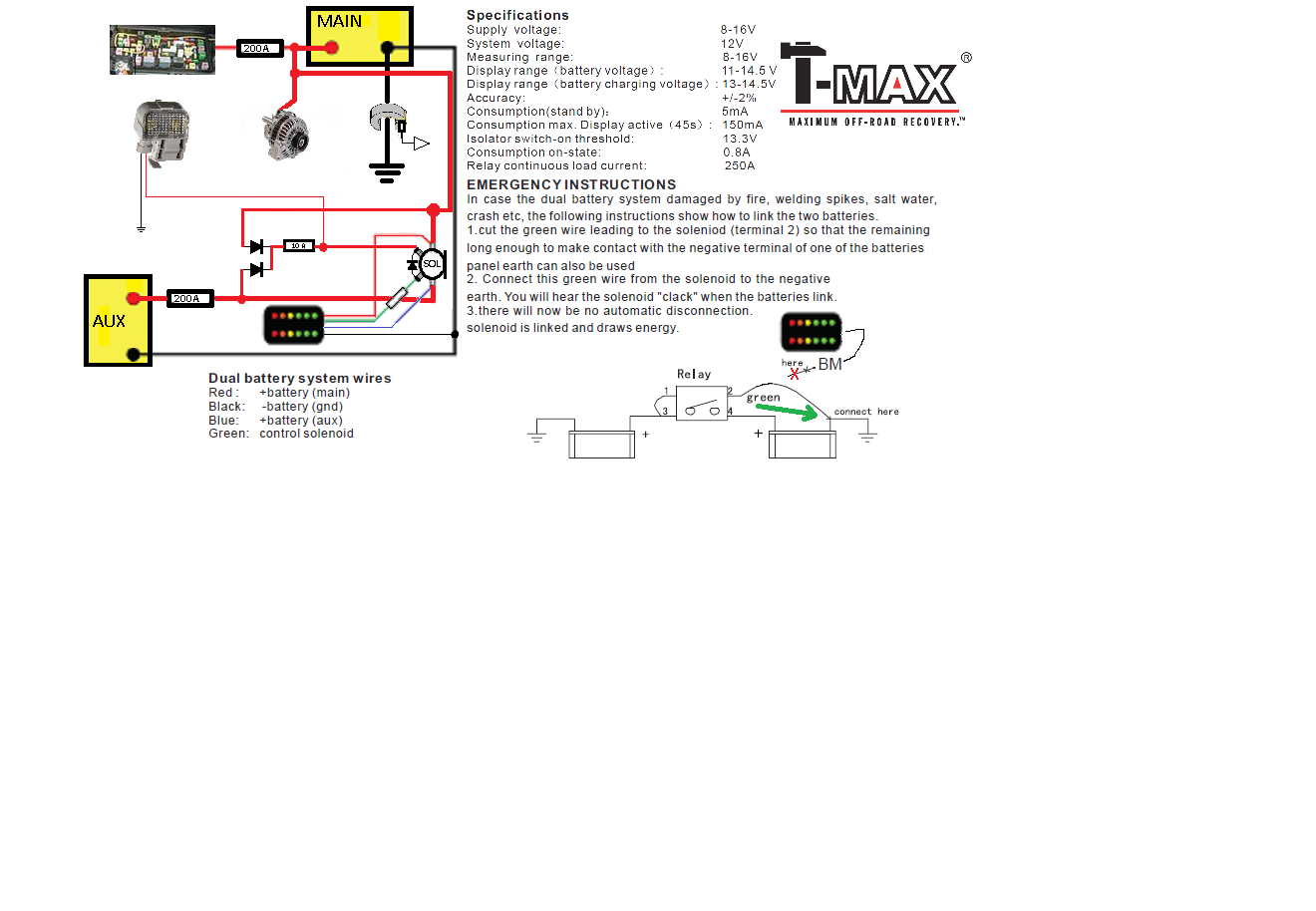 Tmax Dual Battery Controller Output Repair Ih8mud Forum Wiring Diagram On Truck Auxiliary 2013 Sierra 005