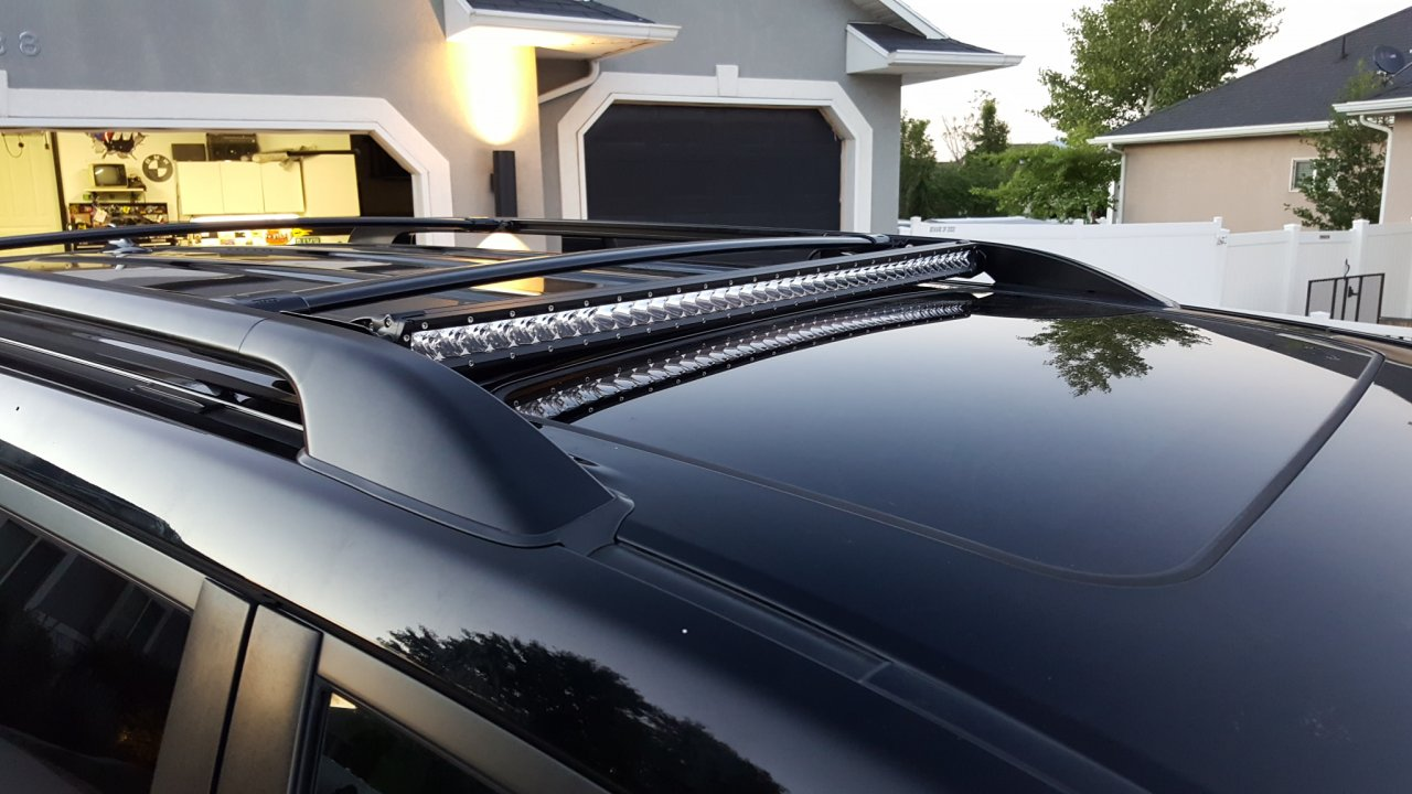 Discreet 40 led lightbar on factory roof rack ih8mud forum 20160620211325g aloadofball Images