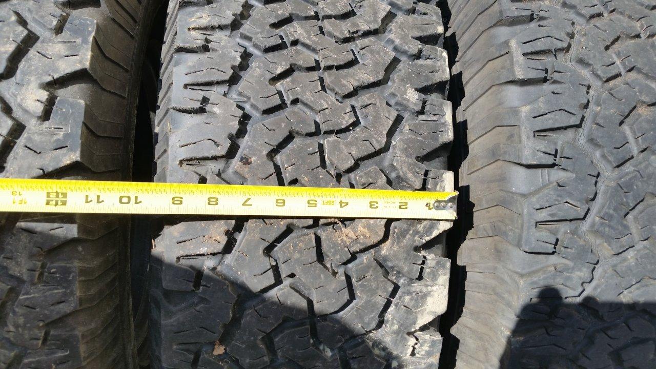 BFG A/T KO Tires 265/75r16 Vs 32x11.50 Vs 33x10.50 ...
