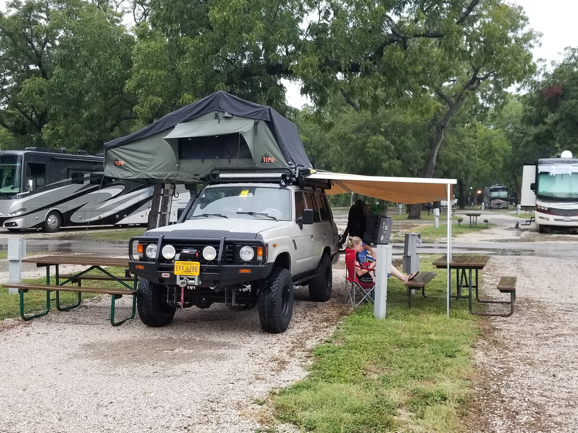 20170926_173241.jpg ... & Weight limit for roof gutters on FJ60 Two rooftop tents? | IH8MUD ...