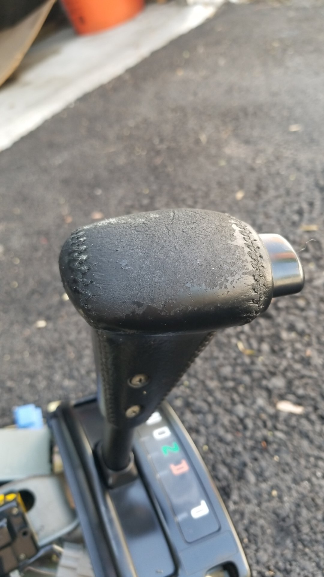 Peeling and cracking leather shifter and other items - Restoration
