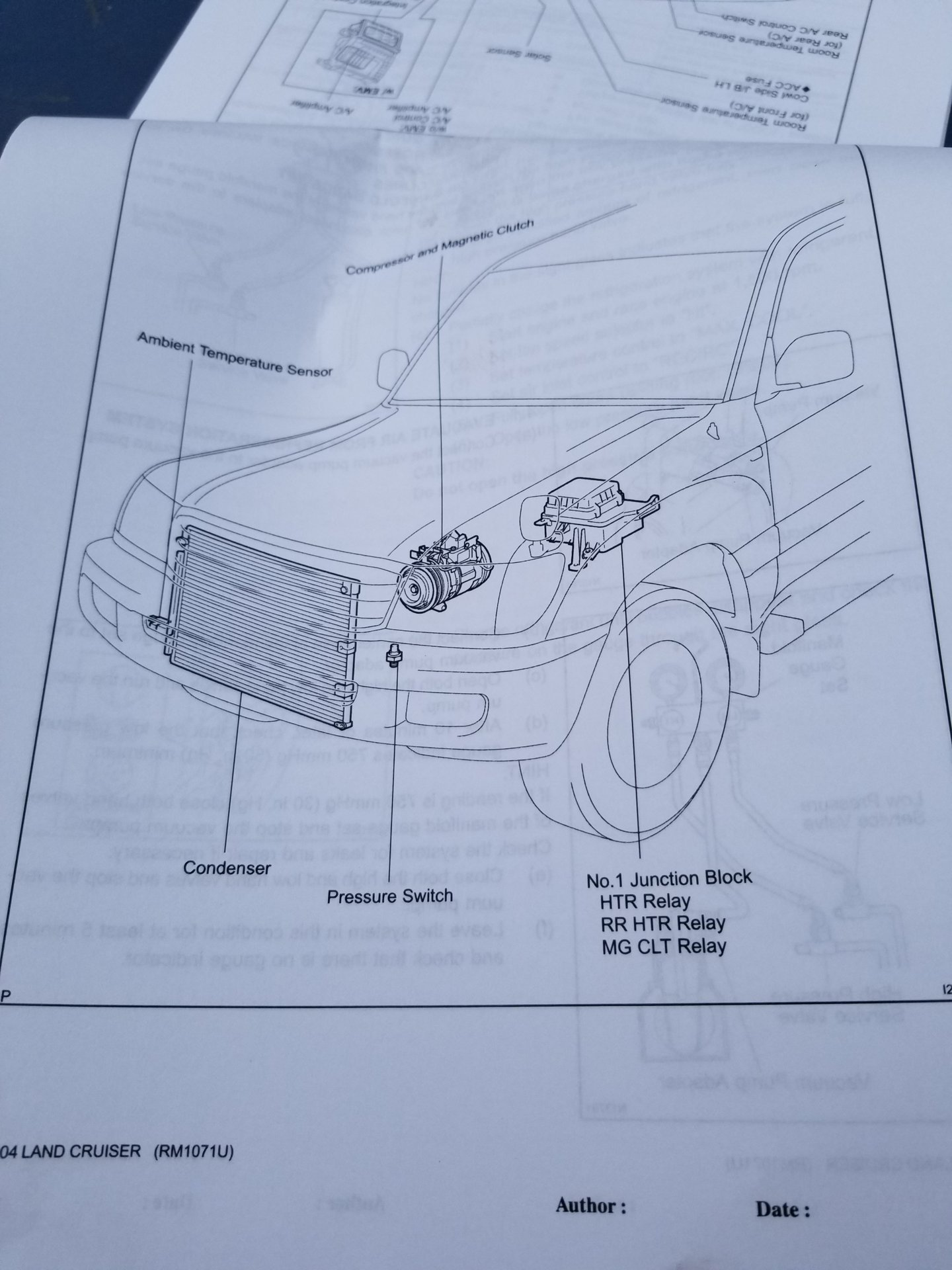 Ac Magnetic Clutch Relay Location On 2003 Lx470