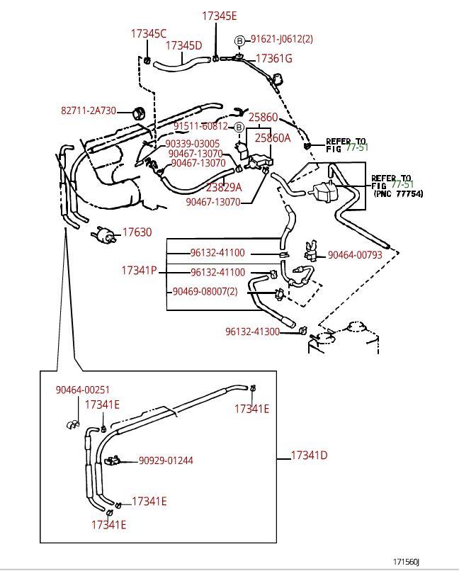 power steering vacuum lines location