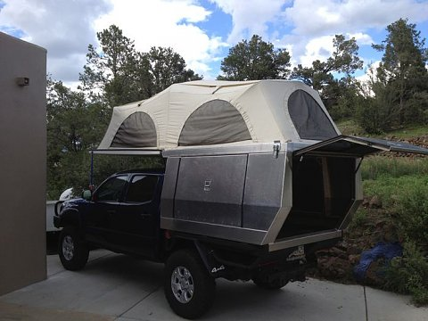 For Sale Custom Aluminum Flippac Camper Flatbed Or