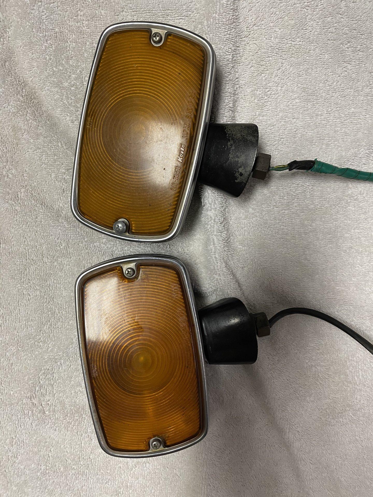For Sale - 71 FJ40 front turn signals original ok shape ...
