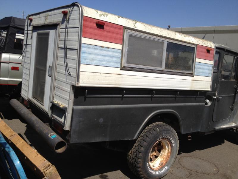 FJ45 Long Bed Vintage Camper Shell For Sale