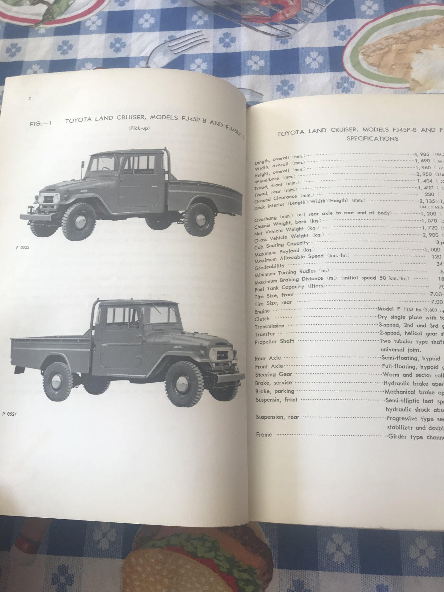 SOLD - Factory 1965 landcruiser parts manual, Fj40, 45lpb
