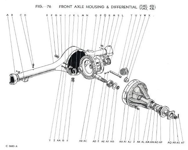 Parts Diagram 1962 Fj40