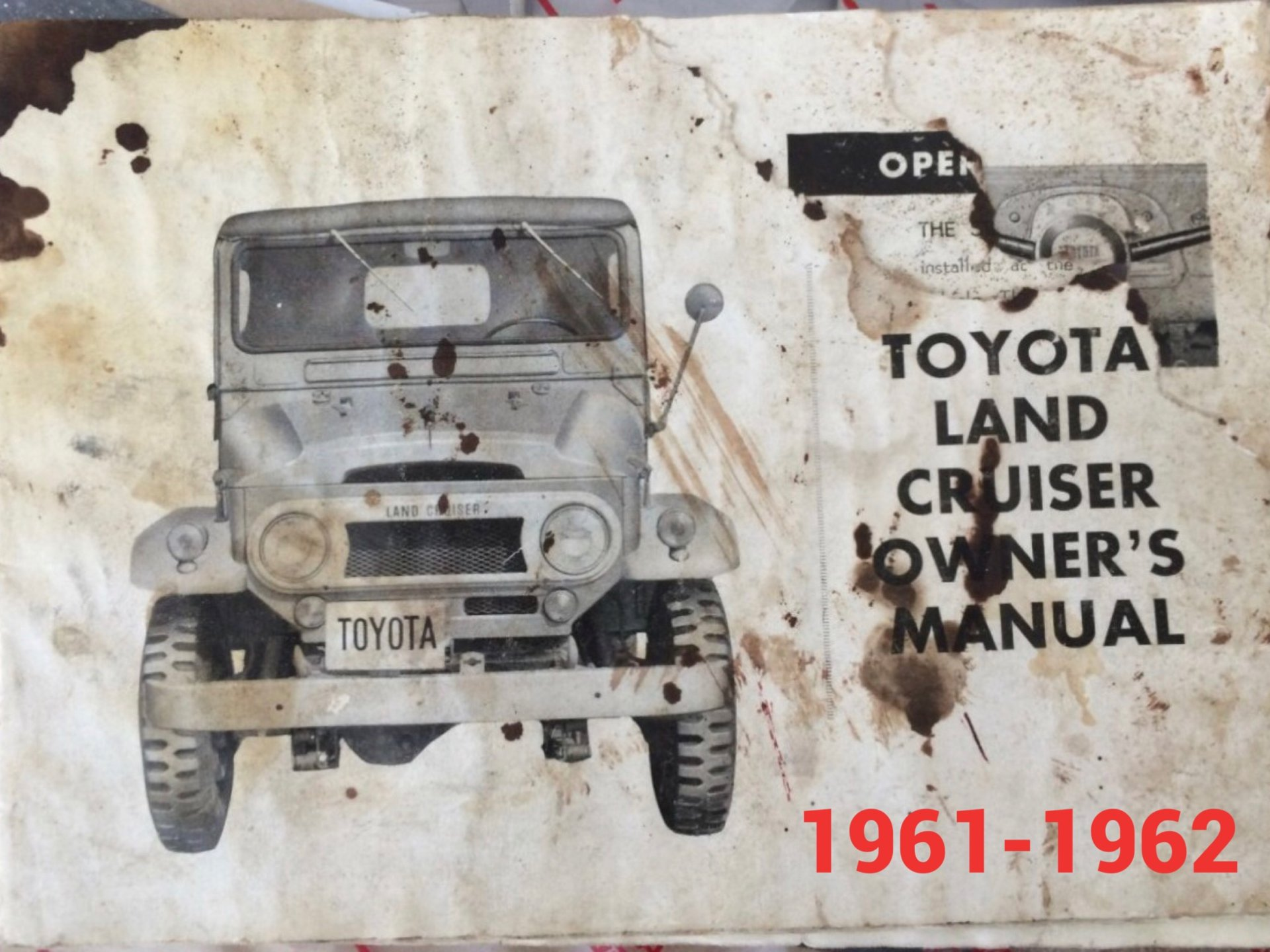 Wanted - Owners manuals 1961/62