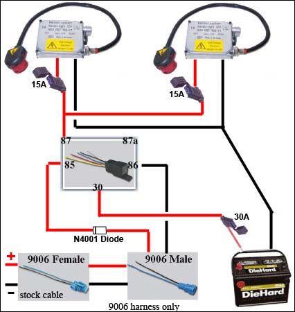 h wiring harness kit wiring diagram and hernes hid conversion kit bi xenon relay wiring harness for h4 h13 9004