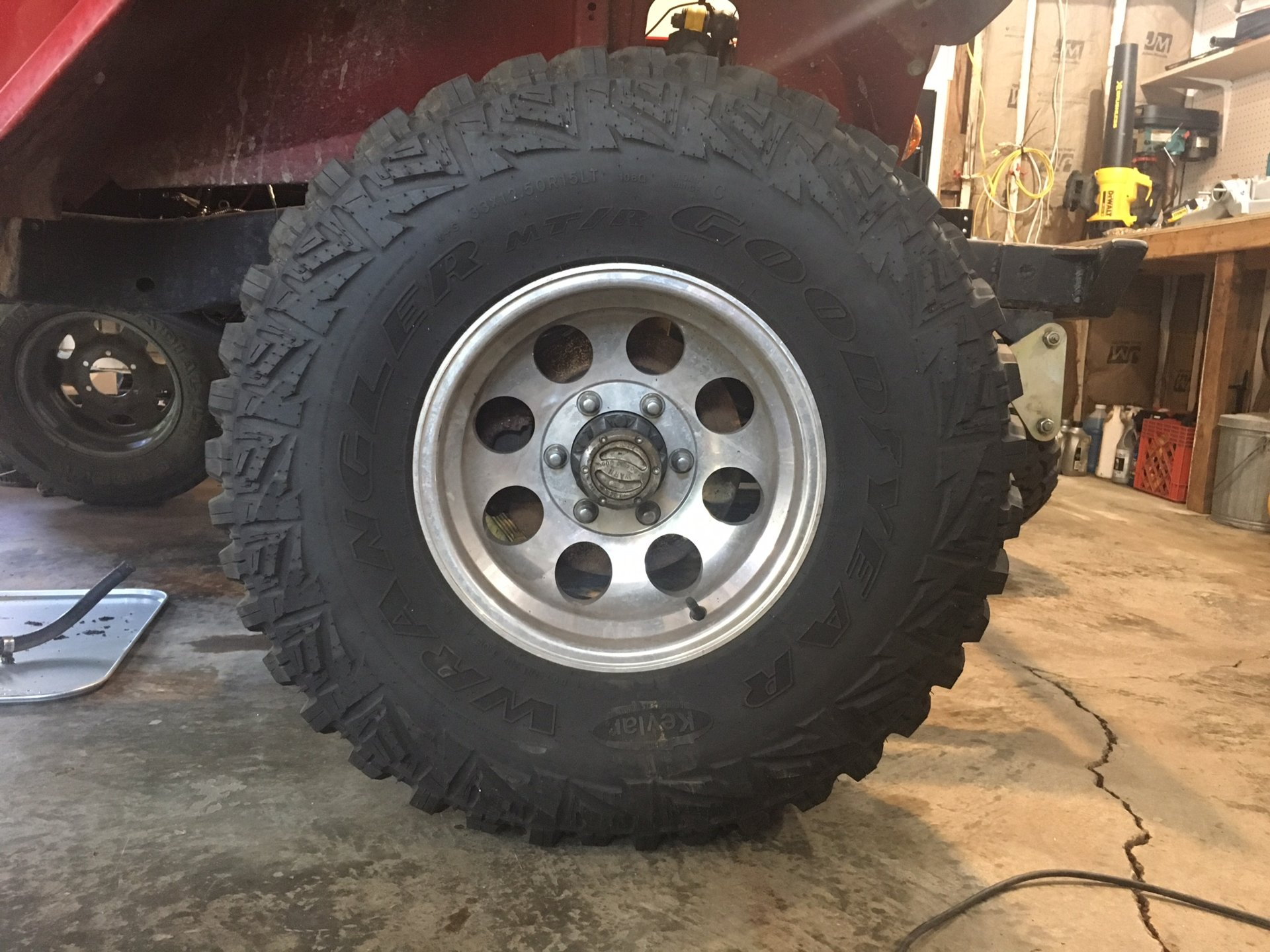 For Sale 33x12 5r15 Goodyear MT R tires and wheels Like New