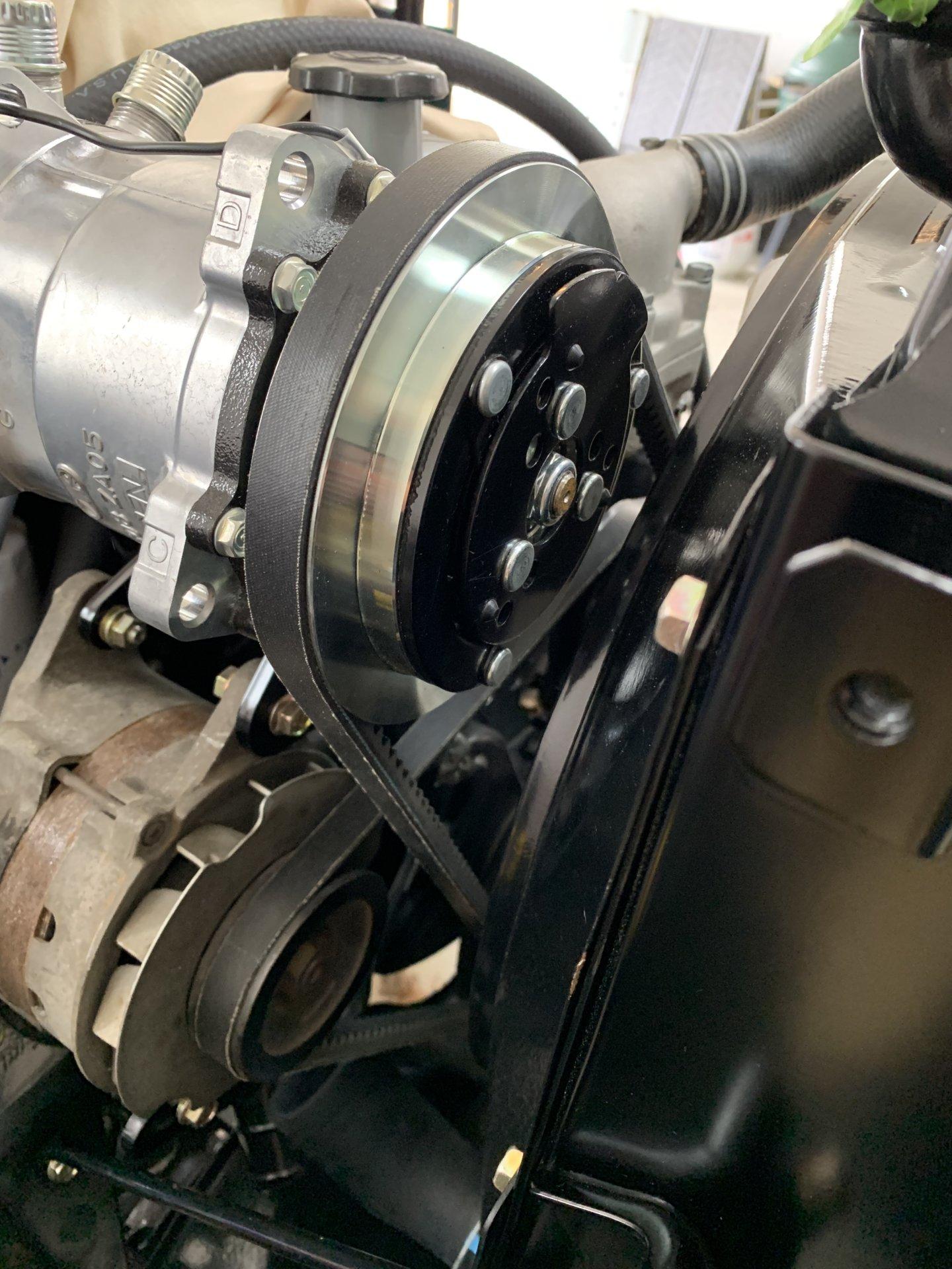 FJ40 Land Cruiser Water Pump Pulley FJ45 Toyota A//C Air 2F F Power Steering