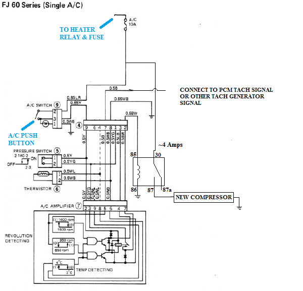 V8 Swap Compressor With Toyota A  C Wiring Diagram