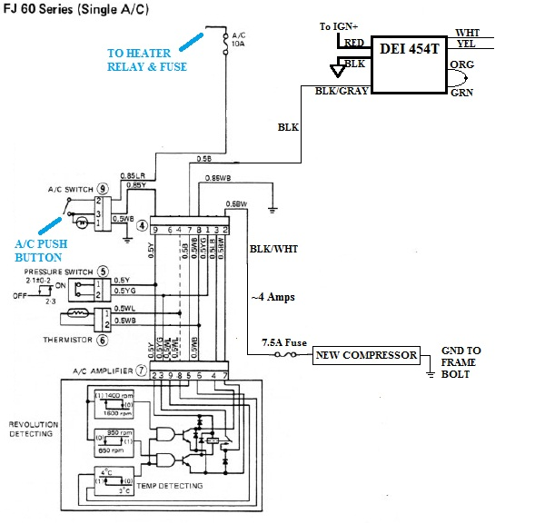 V8 Swap Compressor with Toyota A/C wiring diagram | IH8MUD ...