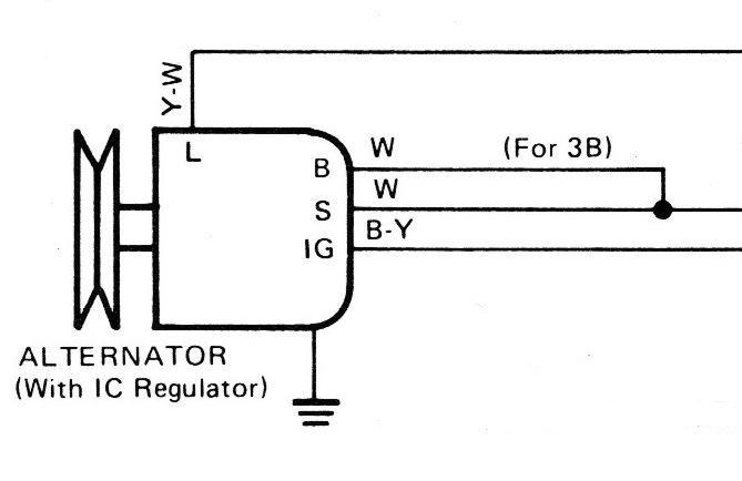 3b Alternator Plug Wires