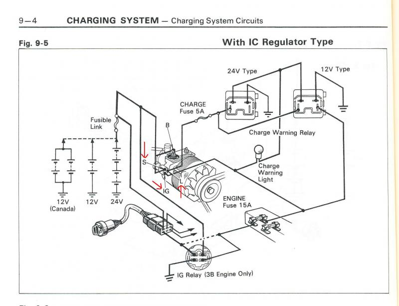 Landcruiser Alternator Wiring Diagram : B alternator plug wires ih mud forum