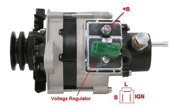 Internal Regulator Alternator Wiring Diagram For Pinterest