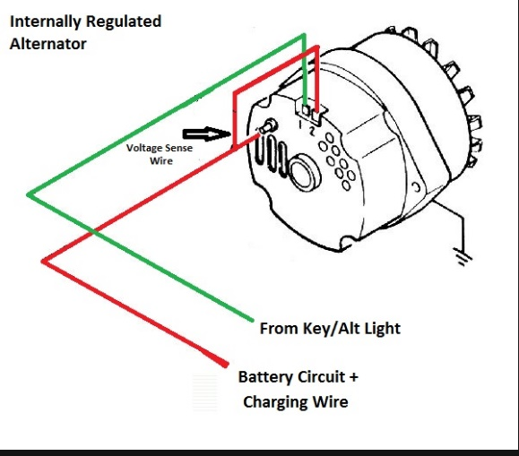 Wiring A Alternator Light one wire alternator wiring diagram ... on