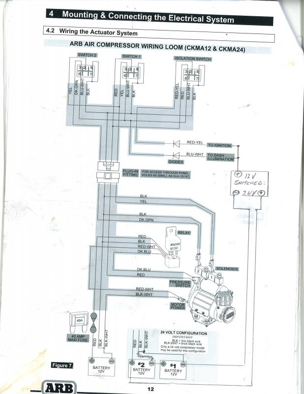 24 volt arb compressor install ih8mud forum dual air compressor wiring diagram at bakdesigns.co