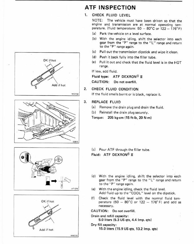 a442f transmission oil