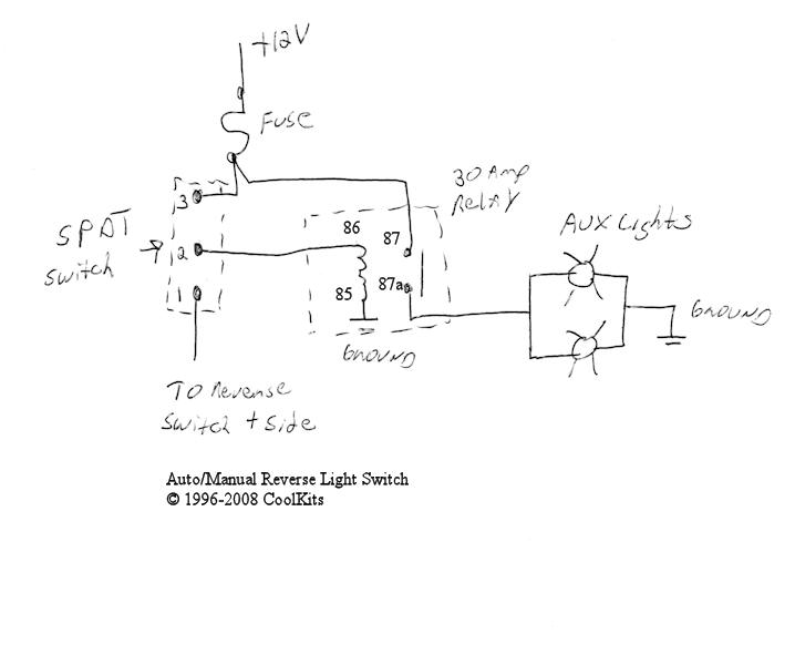 How To Wire Aux Lights To Reverse Switch And Toggle Switch