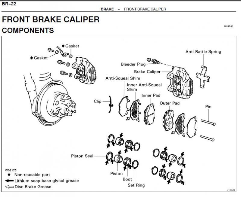 For Landcruiser HZJ80 HDJ80 Series Brake Anti-squeal Shim Front
