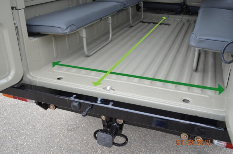Campers For Sale In Ga >> Troopy Cargo Bed Dimensions for Carpet | IH8MUD Forum