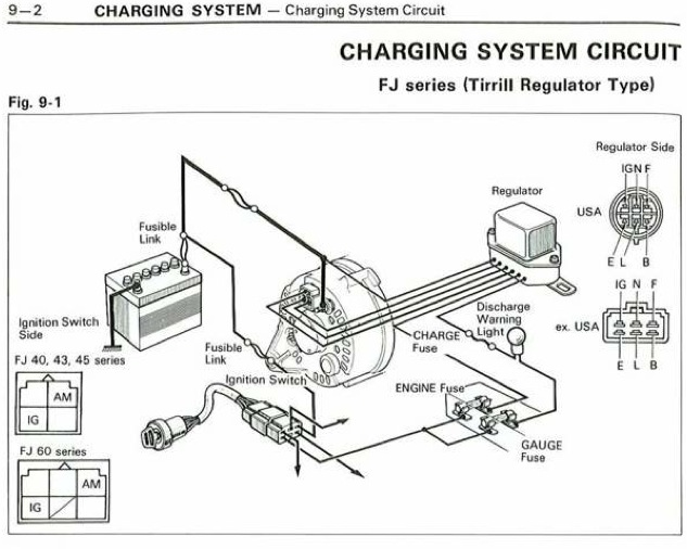charging system fj usa tirrill regulator jpg.1006978 1985 toyota land rover tachometer wiring diagram land rover Evinrude Outboard Tachometer Wiring Diagram at crackthecode.co