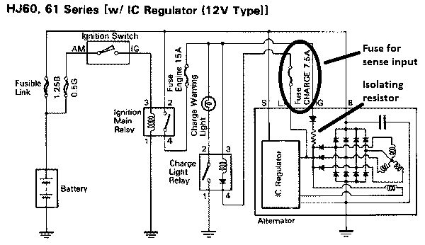 the alternator regulator voltage booster modification part 1 toyota hilux alternator wiring diagram at honlapkeszites.co