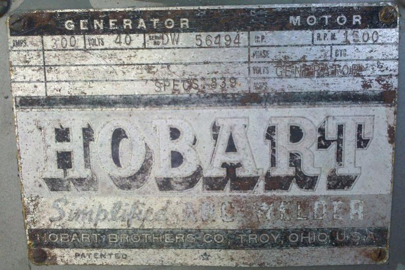 Old hobart quot simplified quot welder IH8MUD Forum
