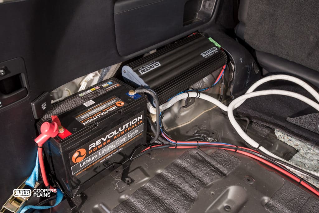 Second Battery Amp Battery Management System In Trunk