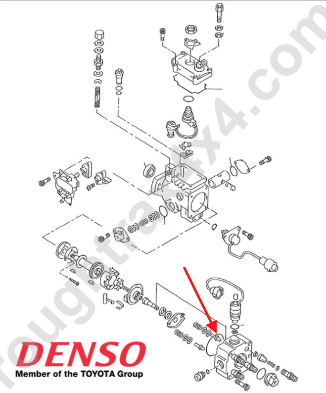 1kzt E Fuel Injector Pump Seal Leak on toyota engine schematic