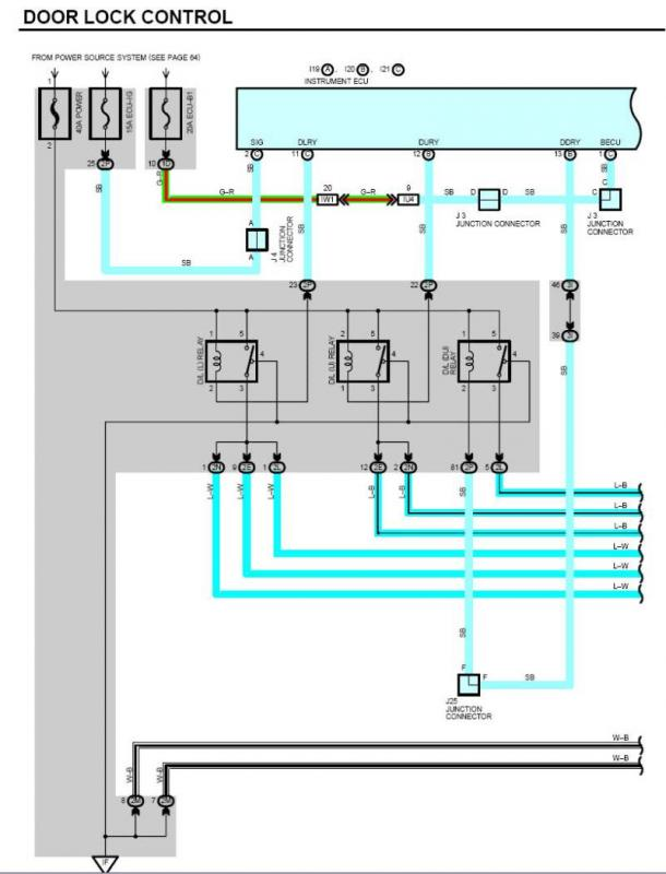 toyota truck door lock wiring diagram power locks not working location of door lock ecu  ih8mud forum  door lock ecu