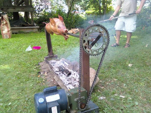 how to cook a pig on a spit