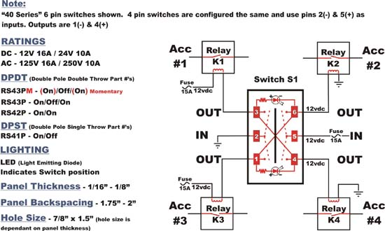 3 pin switch wiring diagram images