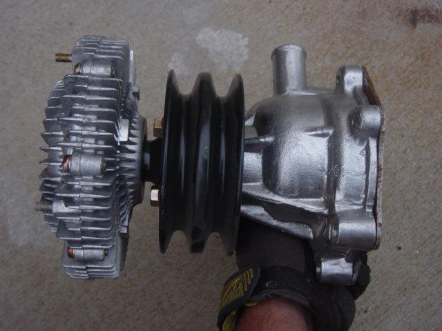Ebay fj40 fj55 water pump pulley fan clutch ih8mud forum for Mud motor electric clutch