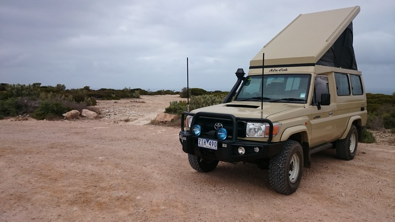 We had operated for a while with a roof top tent and a basic fit out in the back with a dual battery system 180w solar panel and regulator an 80lt fridge ... & 78 Troopy flip top overlander   IH8MUD Forum