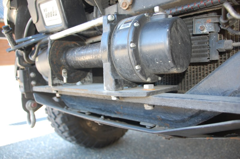 Winch Mounting In Stock Bumper