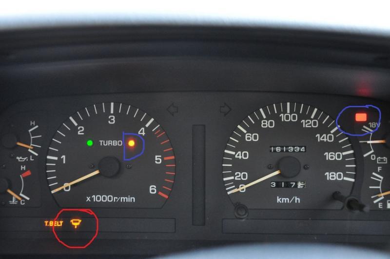 Toyota hilux timing belt warning light