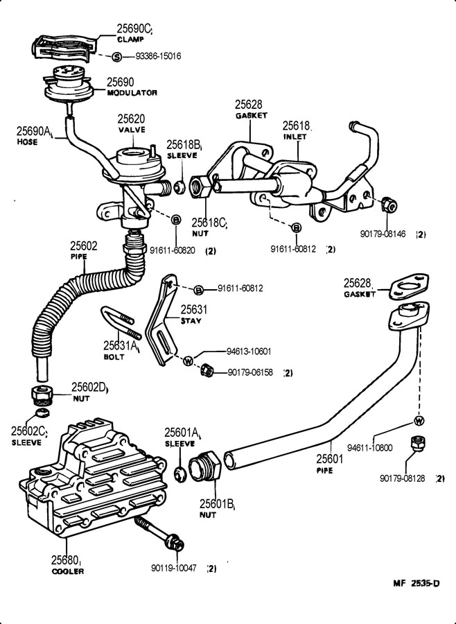 Isx Egr Sensors Diagram furthermore 659818 Replacing Coolant Bypass Pipe Seals moreover Cummins Isx Thermostat Housing Gasket 3682673 additionally 1994 2003 High Pressure Pump Seal Replacement Kit For Ford International 7 3l Power Stroke T444e additionally 77 Fj40 Federal 2f Desmog. on egr cooler location