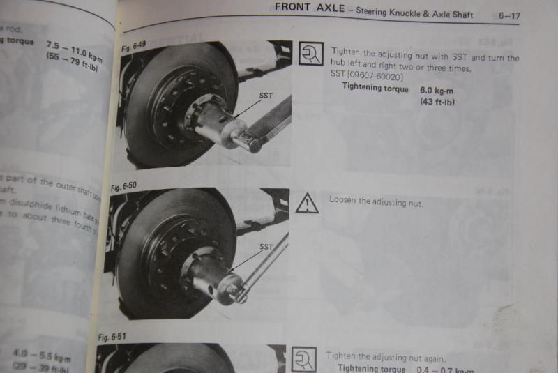 Front Axle Rebuild Torque Specs