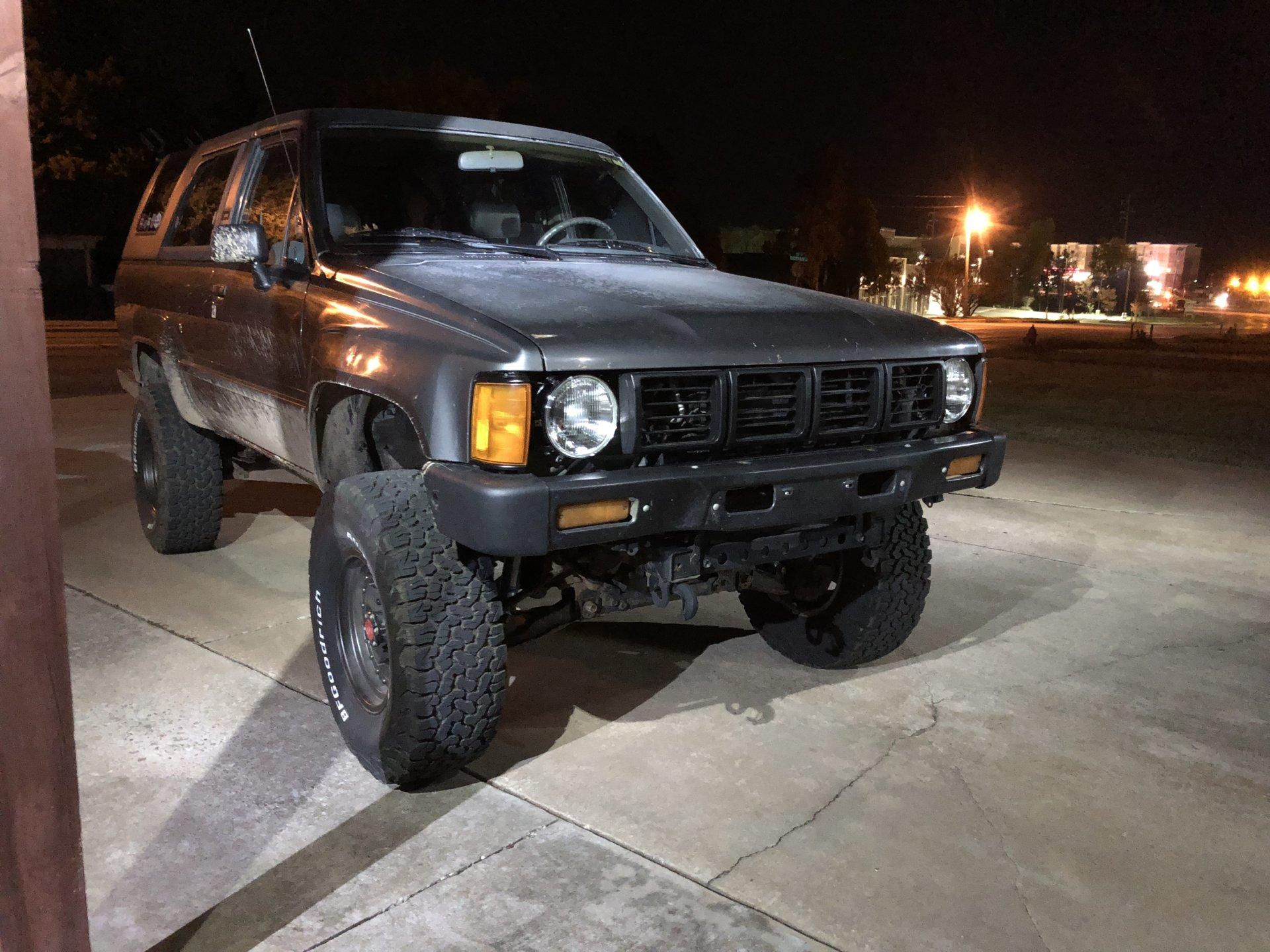 1st Gen Pickup Grille 7 Round Lights Installed On 1st Gen 4runner Ih8mud Forum