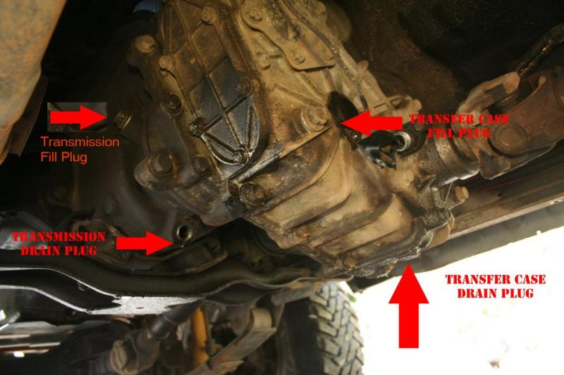Transmission fluid change how to/ write up for FJ60 ...